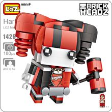 LOZ Mini Blocks Bloques Harley Quinn Figure Action Harleen Quinzel Suicide Squad Joker Girls Brick Heads DIY Dolls Building 1426 - ideas Store store