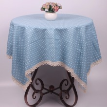 Classic Pink / Green / Blue / Purple Cotton Linen Polka Dot Dustproof Table Cloth Bar Cafe Restaurant Store Table Covers