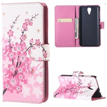 For htc 620 case.Pink Plum Magnetic PU Leather Walet Stand Case Cover For Flip coque funda HTC Desire 620 620G g620 Phone Cases(China)