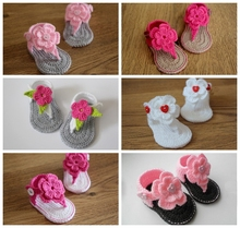 Summer Crochet Baby Girl baby boy Sandals Crochet Baby Shoes, lovely Baby Flip Flops,100pairs