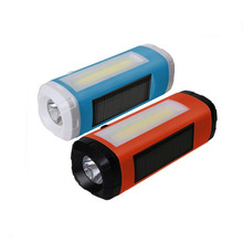 Solar Bluetooth Wireless Speaker Outdoor LED Flashlight Bicycle Loudspeakers Bike Speaker Support TF Card FM Radio For Phone