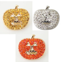 10pcs/lot Snap Charm Holiday Ginger Interchangeable Jewelry Ginger Snap Button Rhinestone Christmas Decoration DIY charms KB4375