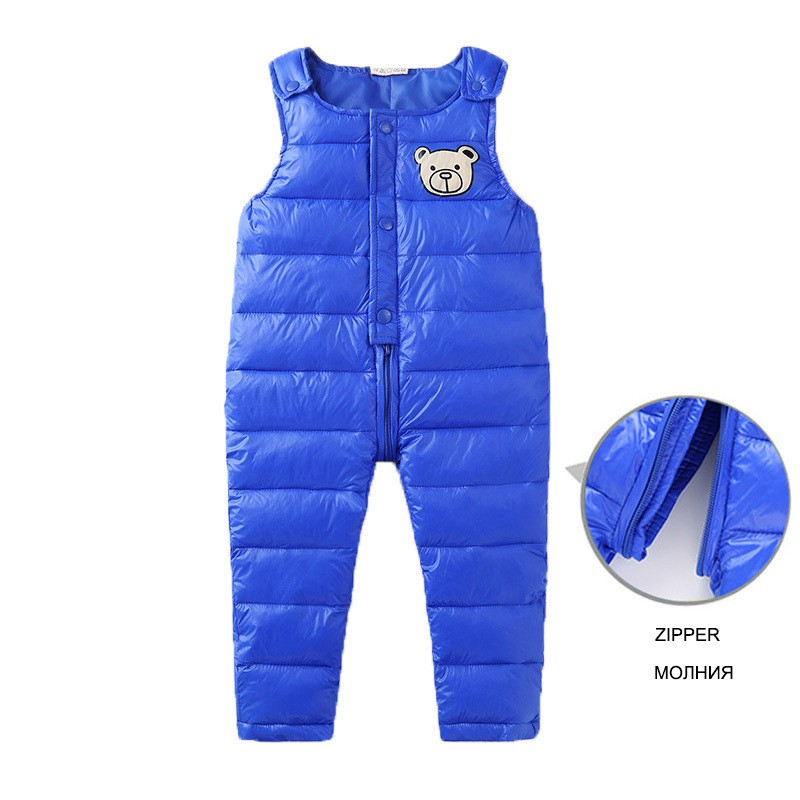 COOTELILI Cotton Winter Overalls Padded Outdoor Romper Pants High Quality Baby Girls Boys Jumpsuit Kids Clothes  90-110cm  (14)