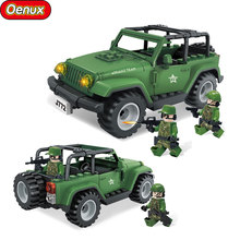 New Classic Military Wrangler Off-Road Jeep Vehicles Model Military Wild Assault Team Soldiers Figures Building Block Brick Toys