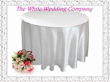 10 Satin 108' Cheap White Wedding Table Cloths Round Wedding Tablecloth  Round Shape Free Shipping to US