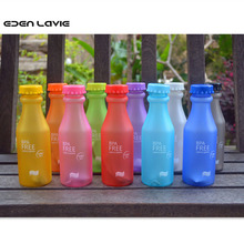 2017 New Hot Sale Portable Leak-proof Bike Sports Unbreakable 550ml Plastic Water Bottle Free Shipping 10 color