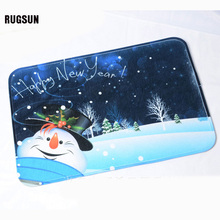 RUGSUN 2017 Cartoon Latex Ottomans Christmas Nonwovens Pad Yoga Mat Advertising Mouse Pad Kitchen Bathroom Pad Carpet 7.5-13 TXJ(China)