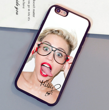 Fun Miley Cyrus signed popular Print Luxury Mobile Phone Case For iPhone 6 6S Plus 7 7 Plus 5 5S 5C SE 4S Soft Rubber Back Cover