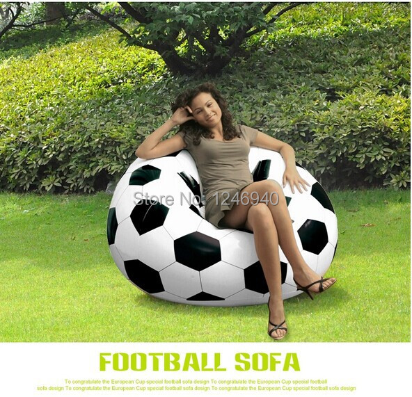 High Quality Inflatable Soccer Ball Sofa Inflatable Bag Chair Outdoor  Furniture Sofa Seat(China)