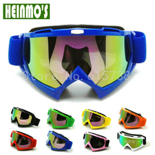 Motorcycle Glasses Motocross Bike Cross Country Flexible Goggles Tinted UV Blue color