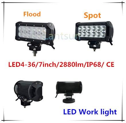 spot flood beam 7 inch 36w led bar light, 36w led work light, offroad work light bar 36w for truck suv atv<br><br>Aliexpress