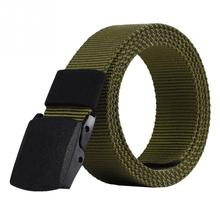NEW 2017 Casual Men Fashion Belts Outdoor Sports Military Tactical Nylon Waistband Canvas Web Belt Hot Sale