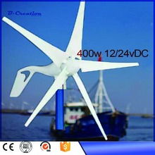 Time-limited Generador Eolico Wind Generator 12/24v 400w Home Use Windmill / Generator, 5 Blades, Years Warranty Small For Boat(China)