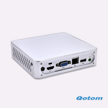 Smallest Pc Q100N-S03 DC 12V  support 720P/1080P HD video HTPC Home media player desktop computer