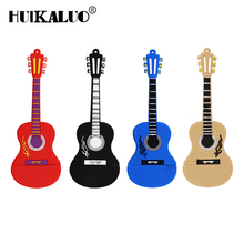 Cartoon Musical guitar model usb flash drive 4gb 8gb pen drive 16gb 32gb 64gb u disk pendrive flash memory usb stick(China)