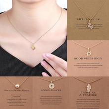 Hot 1PC High Quality Necklace Fashion Women Charm Pendants Clavicle Jewelry Gold Chain Gift