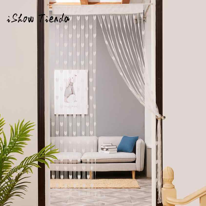 Love Heart String Curtain Window Door Divider Sheer Curtain Valance 50x200cm window treatment door curtains home decor rideaux