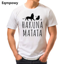 Buy 2017 Summer Cotton T-Shirts HAKUNA MATATA Men's Big Size T Shirts Short Sleeve Slim Fit Fashion Tops & Tees Male Clothing for $5.13 in AliExpress store