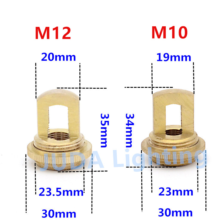 E-outstanding 2pcs Black M10 Thread Hook Screw Nut Buckle with Screws for Chandeliers Ceiling Rose Lamp Base Led Pendant Lamp