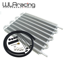 WLRING STORE- UNIVERSAL 304.8X254X19.05 ALUMINUM REMOTE TRANSMISSION OIL COOLER KIT /AUTO-MANUAL RADIATOR CONVERTER WLR7431(China)
