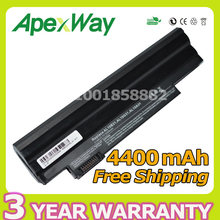Apexway Black 4400mAh laptop battery for Acer Aspire AL10A31 AL10B31 AL10G31 One 522 D255 722 D257 D255E D260 D270 AOD255 AOD260(China)