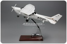 Brand New Plane Model Toys CESSNA 172R N721DS 28cm Resin Airplane Model Toy For Gift/Collection/Decoration