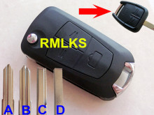 RMLKS Replacement Flip Folding 3 Button Key Remote Shell Cover fit for Vauxhall Opel Astra Vectra Zaf Case Blank(China)