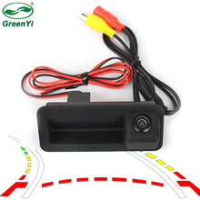 GreenYi Intelligent Dynamic Trajectory Tracks Rear View Camera For Ford Focus Sedan Mondeo Install on Car Trunk Boot Lock Slot(China)