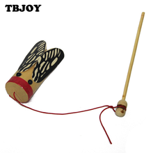1 Set DIY Wooden Insect Toy Propagation Sound Cicada Toy Kids Educational Puzzles Toys Birthday Gift For Children Baby Kids(China)