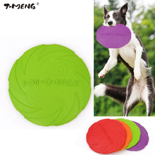 T-MENG Dog Toys Flying Discs Eco-friendly Pet Product Natural Rubber Material Pet Dog Toy Frisbee for Medium Large Dog Training(China)