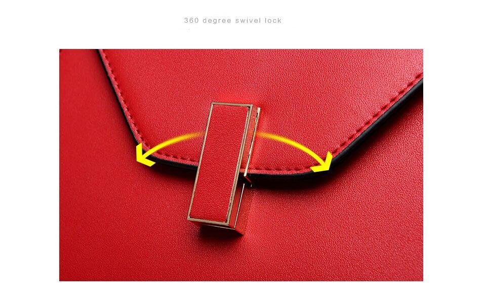 2017 new tide fashion handbags luxury designer brand bag metal lock handbag shoulder Messenger bag wild ladies bag
