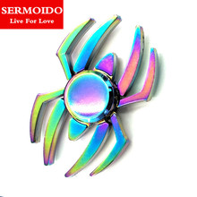 Buy SERMOIDO New Colorful Fidget Toy Hand Spinner Rotation Time Long Autism ADHD Kids Adult Funny Anti Stress A131 for $8.98 in AliExpress store