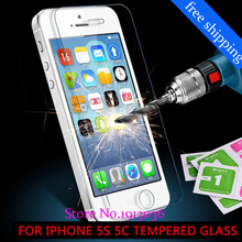 9H for iphone 4/5/5s/6/6s/7 Tempered Glass front clear screen protection glass film on the for iphone5 5s 6s Tempered Glass