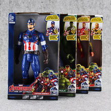 30cm 4Styles Avengers Hero Captain American&Hulk&Iron Man&Thor Action Figure Toy Building Blocks Christmas Gift For Kids