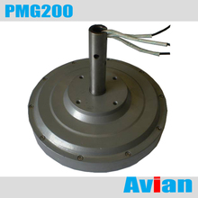 PMG200 50W 200RPM Coreless permanent magnet generator, three phase wind generator CE certificated(China)