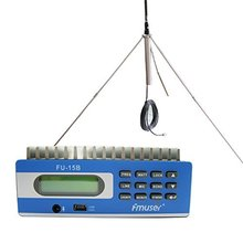 FMUSER FU-15B 15W transmitter  fm radio  Broadcast PC Control audio  transmitter and GP100 1/4 wave antenna KIT Free Shipping