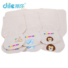 Dile baby solid color sweatbands breathable animal kid suit cotton child bibs 0-6years animal baby Scapegoat towel(China)