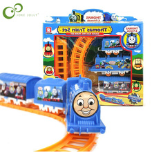 1 Set Thomas Train Motorized Battery Train Track Orbital Electric Train Rail Car Toy Gift for Baby Children with retail box GYH