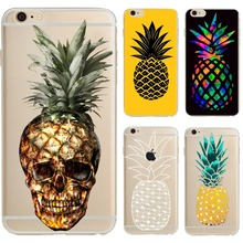 Phone Cases Skull Fruit Pineapple Cartoon Soft silicon TPU Gel Case Cover for iPhone 6 6S 6plus 6splus 5S SE 7 7plus coque capa