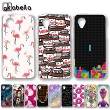 AKABEILA Soft TPU Plastic Phone Cases For LG Google Nexus 5 E980 D820 4.95 inch Nexus5 D821 Covers Nutella Flamingo Tetris Bags(China)