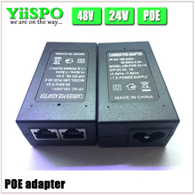 YiiSPO CCTV Security 48V0.5A 24V1A 15.4W POE Wall Plug POE Injector Ethernet Adapter IP Camera Phone PoE Power Supply US EU Plug