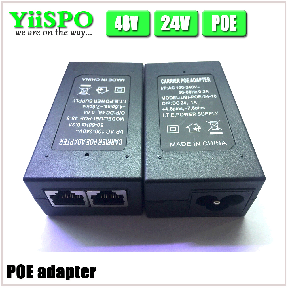 YiiSPO CCTV Security 48V 0.5A 15.4W POE Wall Plug POE Injector Ethernet Adapter IP Camera Phone PoE Power Supply US EU Plug(China)
