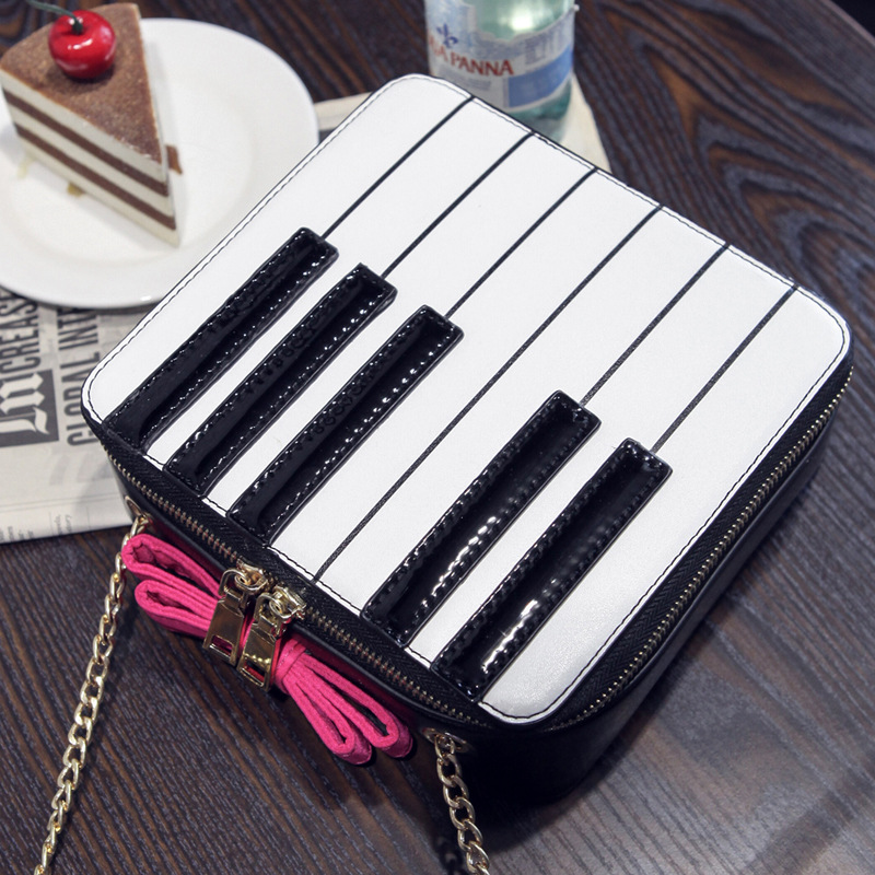 2017 summer handbag personalized piano bag Korean bowknot panelled color packet chain shoulder bag women Messenger bag crossbody<br><br>Aliexpress