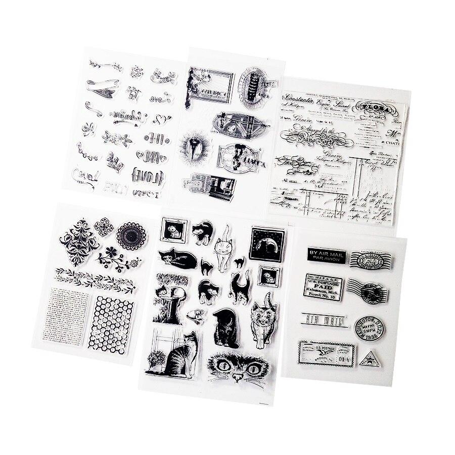Romantic cake and wine stamps scrapbooking album card decor diary diy craftJM