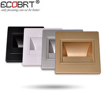 Modern Recessed Led Stair Lights New Square led wall lamps 100-240v 1.5w Wall Lights In Step Lights Indoor 5pcs/lot