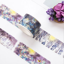 Moonlight Forest paper tape DIY washi tape decoration tape scrapbooking planner masking tape office Stationery sticker gifts