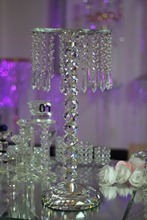 wholesale 2pcs/lot crystal wedding decoration table chandeliers centerpiece table flower stand Tall 35.43inch