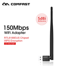 Wifi module laptop adapter 150mbps wireless adapter usb wireless dongle network card usb mini pci express wifi COMFAST CF-WU755P(China)