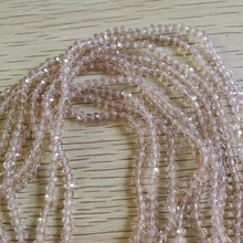 3mm 4mm Glass Slivery Peach Faceted Rondelle Beads 4/6/8 MM Spacer Necklace Bracelet DIY Jewellery