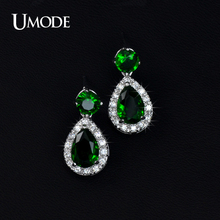 UMODE 4 COLOR CHOICE Cute Jelly Drop Cubic Zirconia Earrings UE0046(China)